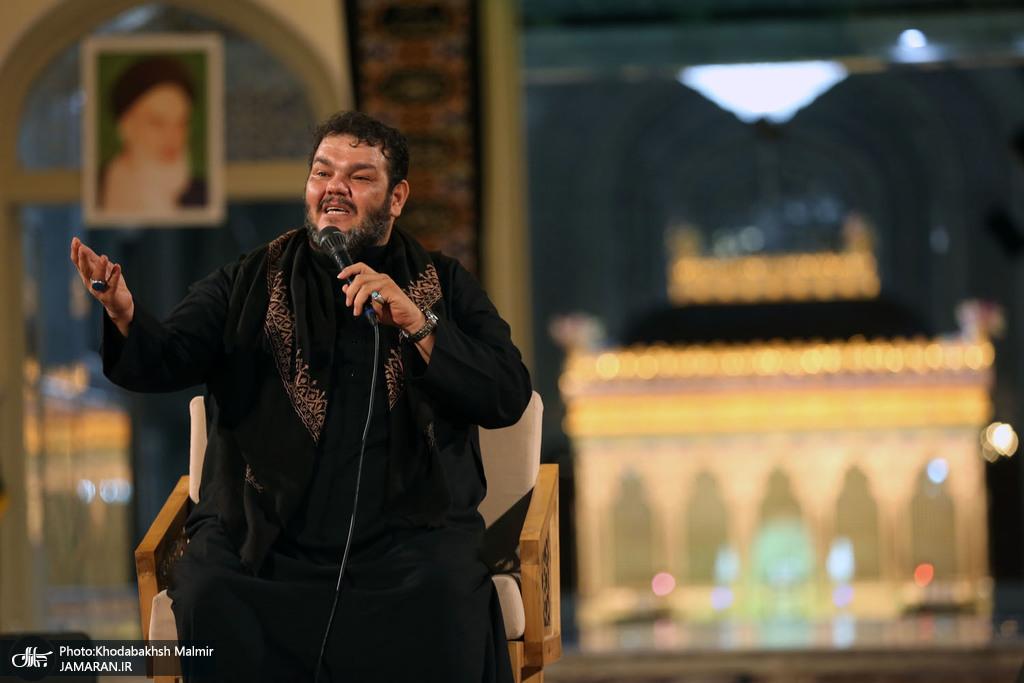 صوت/ روضه خوانی حاج حیدر خمسه در حرم مطهر امام خمینی (س)