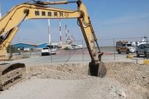 عملیات گسترش پارکینگ هواپیما درفرودگاه بندرعباس آغاز شد