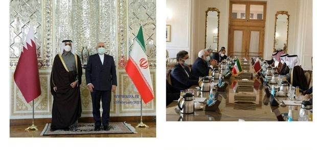 مذاکرات وزیر خارجه قطر با ظریف در تهران انجام شد