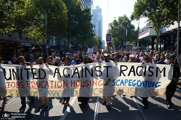 اعتراض به کشتار نیوزیلند+ تصاویر