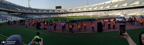 """""""زوم"""" عکاسان ورزشی روی حضور بانوان در ورزشگاه! / عکس"""