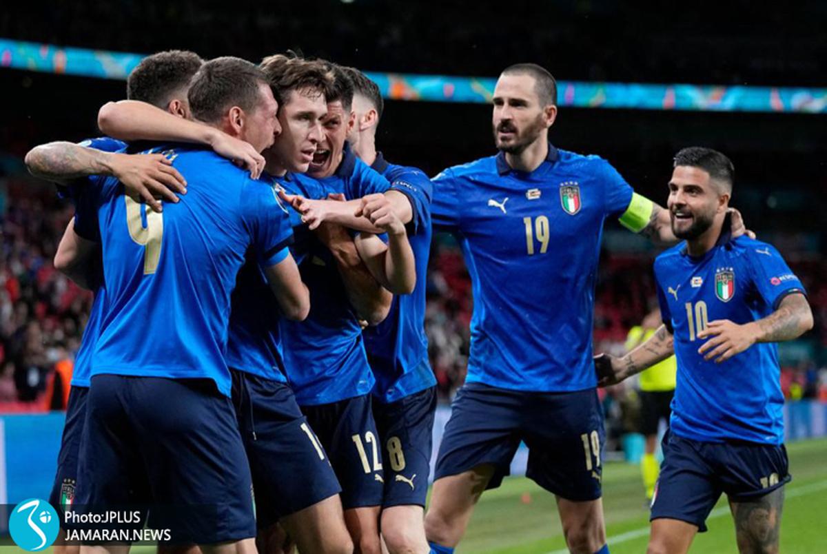 ایتالیا 2 - اتریش یک؛ صعود پرزحمت آتزوری بعد از 120 دقیقه+ ویدیوی گل ها و عکس