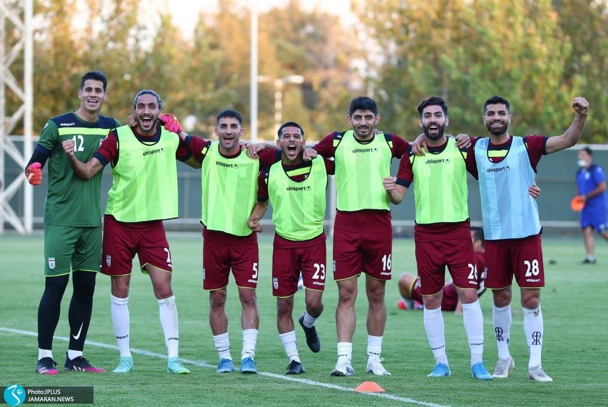 تمرین شاگردان اسکوچیچ در تهران بدون بازیکنان بازی با امارات + عکس