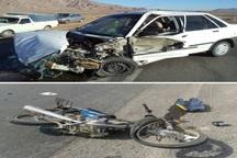 افزایش 2 برابری تصادف رانندگی در روستاهای یزد  عامل پنج درصد تصادفات و20درصد فوتی ها موتورسیکلتها هستند