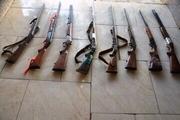 توقیف هشت قبضه اسلحه شکاری غیرمجاز در آستارا