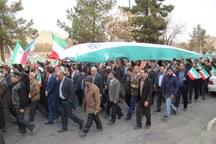 راهپیمایی مردم تفت در محکومیت حوادث اخیر