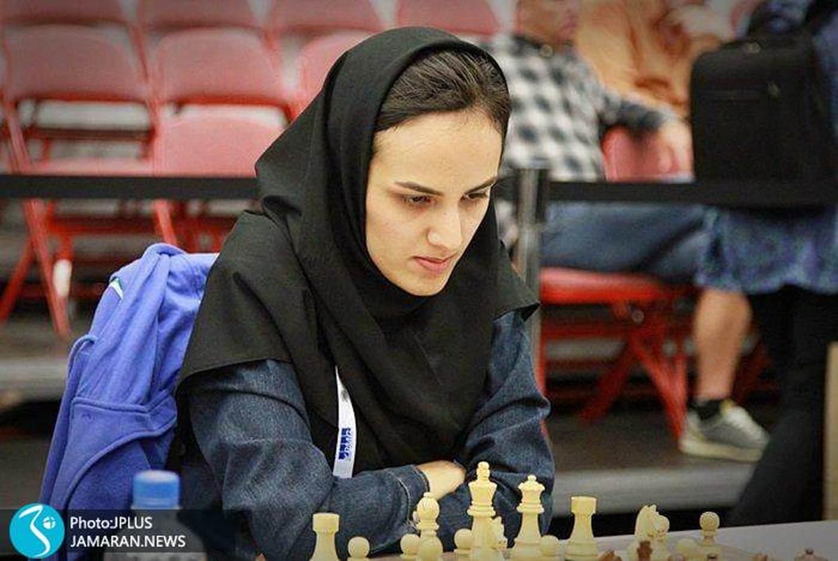 ملی پوش اخراجی شطرنج زنان ایران با پرچم فرانسه!