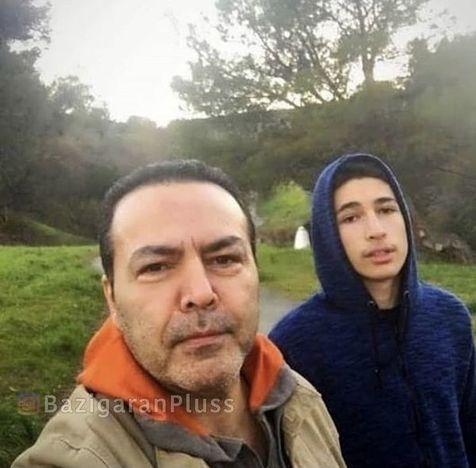 فریبرز عرب نیا در کنار پسرش+عکس