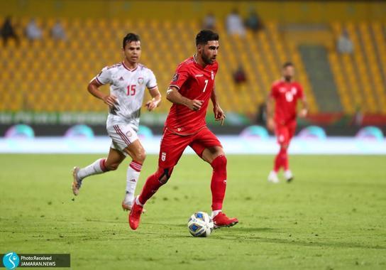 علیرضاو جهانبخش تیم ملی فوتبال ایران امارات