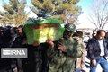 پیکر یکی از شهدای سقوط هواپیما در شیراز به خاک سپرده شد