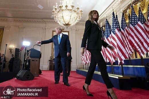 عکس/ تنفر بانوی اول سابق آمریکا از ترامپ/ این تصاویر گویای همه چیز است