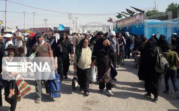 روند تردد زائران اربعین در مرز مهران معکوس شد