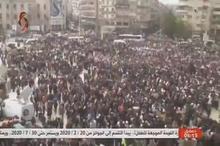 تجمع مردم حلب در جشن پیروزی ارتش سوریه