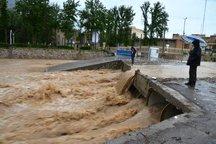 زیرگذر بهارستان و پل های موقت خرم آباد بسته شد