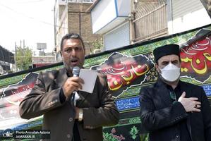 مراسم عزاداری روز عاشورا در محله شادآباد تهران