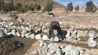 بهسازی چشمه غربال بیز مهریز آغاز شد