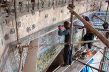 مرحله دوم مرمت ایوان شمالی مسجد جامع عتیق قزوین پایان یافت