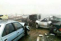 60 مصدوم در تصادف زنجیره ای آزادراه مشهد-نیشابور   فوت کودک 5 ساله+ عکس