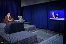 ارتباط تصویری رهبر معظم انقلاب با ستاد ملی مبارزه با کرونا