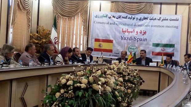 اتحادیه های کشاورزی اسپانیا بر گسترش همکاری با یزد تأکید کردند