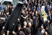 تشییع مادر شهید ردانیپور در  اصفهان دفن در مزار نمادین شهید