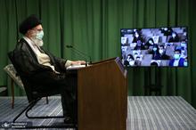 ارتباط تصویری رهبر معظم انقلاب با نمایندگان تشکلهای دانشجویی