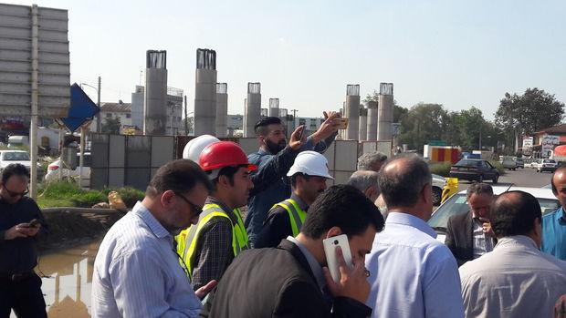 شتاب در ساخت طرح ملی پل کنارگذر لاهیجان با توان بومی