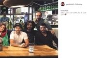 سینا مهراد در کنار برادرش و نازنین بیاتی+ عکس