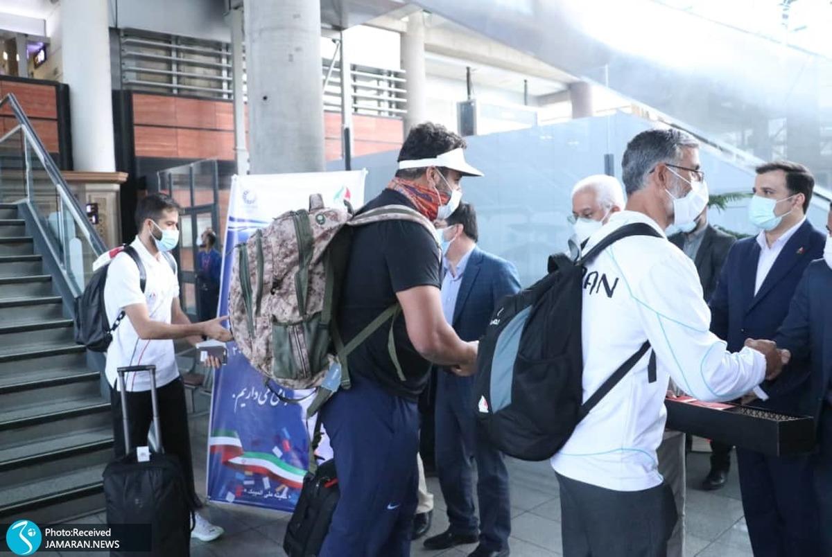 المپیک توکیو 2020| استقبال مسئولان از احسان حدادی و حسن تفتیان در فرودگاه+ تصاویر