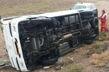 واژگونی مینی بوس در نیشابور 20 مصدوم داشت