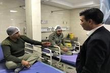 عیادت مدیرکل حفاظت محیط زیست قزوین از محیط بانان مجروح استان