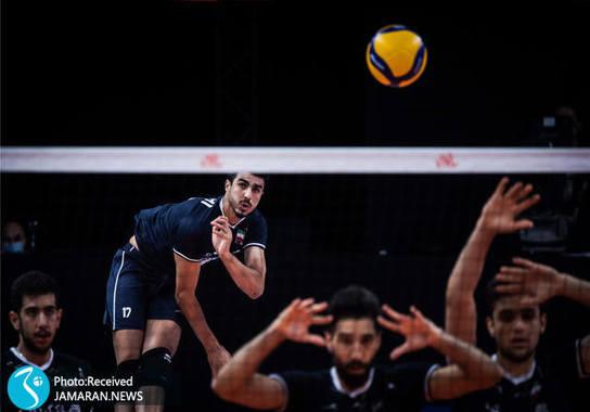 بردیا سعادت تیم ملی والیبال ایران - لیگ ملت های والیبال 2021- والیبال ایران و برزیل