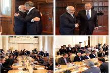 عکس/ استقبال خاص وزیر خارجه روسیه از ظریف