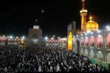 مراسم احیاء شب بیست و سوم ماه مبارک رمضان در حرم مطهر رضوی برگزار شد