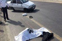 راننده بیاحتیاط در جاده زنجان جان عابر را گرفت
