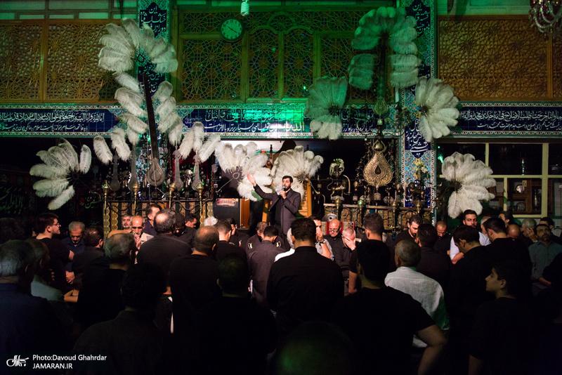 مراسم عزاداری شب شهادت حضرت رقیه(س) و تشییع پیکر پاک شهید تازه تفحص در تکیه دربند