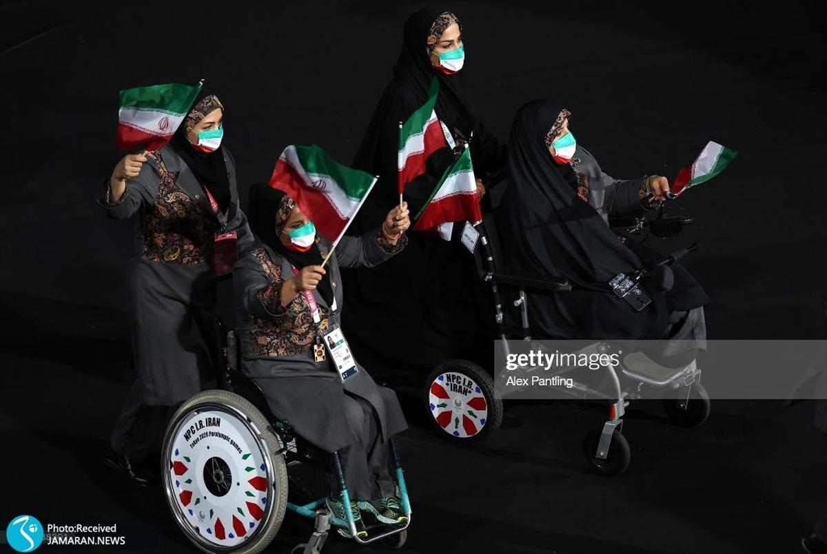 رژه کاروان ایران در پارالمپیک 2020 توکیو + عکس و ویدیو