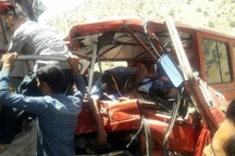 20 کشته و زخمی در تصادف محور پلدختر-خرم آباد