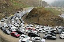 ترافیک سنگین در محورهای منتهی به شمال کشور