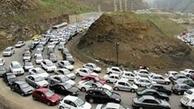 ترافیک سنگین جاده کرج - چالوس
