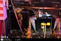 یک مجتمع تجاری در قوچان آتش گرفت