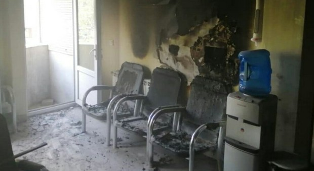 آتش سوزی در یک درمانگاه چشم پزشکی در تبریز