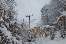 برف برق 11 روستای بجنورد را قطع کرد