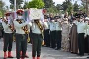 پیکر شهید خلبان «علی عیدی» در کرمانشاه به خاک سپرده شد