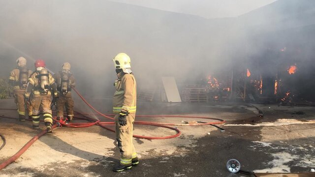 آتش سوزی در «کمرد» پردیس