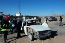 رها سازی سه سرنشین خودروی پیکان در قزوین