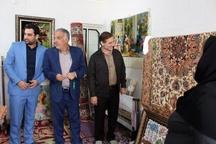 بازدید اعضاء کمیته سرمایه گذاری دفتر علی گلمرادی از کارگاه ابریشم بافان بندر امام+ تصاویر