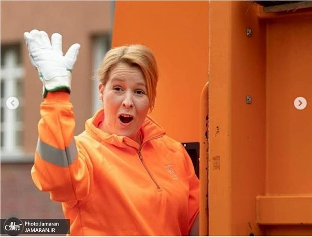 حرکت تحسین برانگیز وزیر آلمانی+ عکس