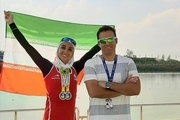 کسب دومین مدال طلای نازنین ملایی در روئینگ کاپ آسیا