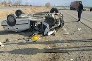 واژگونی خودروی سواری در ورزقان  ۱ نفر کشته و ۵ نفر زخمی شدند